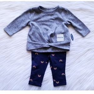 NWT Old Navy Sweater & Legging Set 3-6 Months